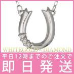ダイヤモンド ネックレス ホワイトゴールド 10金 ホースシュー 馬蹄