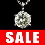 ショッピングネックレス ネックレス ダイヤモンド 一粒 ネックレス シルバー  0.45カラット