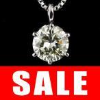 ショッピングネックレス ネックレス ダイヤモンド 一粒 ネックレス プラチナ  0.75カラット
