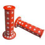 六角グリップ スター(星型) レッド 赤 非貫通  22.2mmハンドル汎用品 左右1セット