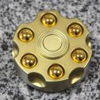 ハンドスピナー 合金 フィンガースピナー ガンマン 弾倉 弾丸 ワイルド フィジェット Fidget spinner (ゴールド) Koma_GUN_MGN