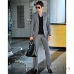 スーツ セットアップ メンズ 1ツボタ ビジネススーツ スリムスーツ 結婚式 就職 紳士 サイドベンツ