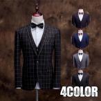 3ピーススーツ suit ビジネススーツ スリーピーススーツ 1つボタン チェック柄スーツ スリムスーツ 通勤 入学式 成人式 結婚式 秋冬物