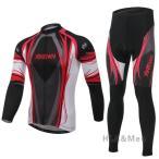 サイクルジャージ 上下セット サイクリング カップル 男性 レディース サイクルウェア 3Dパッドパンツ 長袖 吸汗速乾