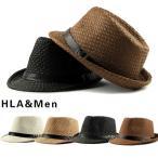 麦わら帽子 メンズ 中折れ帽子 ハット 帽子 ストローハット 紫外線防止 日よけ帽子 中折...