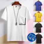 白Tシャツ Tシャツ 半袖 メンズ 夏 クルーネックTシャ