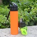 水筒 折りたたみ シリコンボルト 持運便利 大容量ウォーターボトル サイクリング/トレッキング/ランニング