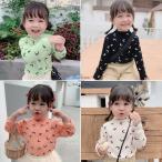 カットソー 子ども服 トップス 長袖 無地 Tシャツ ファッション感 人気 弾力 キャラクター  可愛い 女の子 韓国 通学