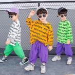 カットソー 子ども服 トップス HIPHOP 長袖 無地 Tシャツ 弾力 キャラクター  男の子 韓国 通学 ファッション感 人気