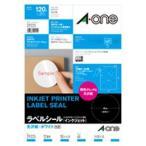 ショッピングシール ラベルシール[インクジェット] 光沢紙・ホワイト A4判 12面 丸型 29225 エーワン メール便発送