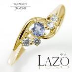 指輪 10金 絆 ピンキーリング ハート 誕生石 ダイヤモンド 指輪 タンザナイト レディース 母の日 花以外