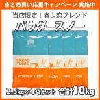 小麦粉 強力粉 パウダースノー (オリジナル春よ恋ブレンド) 2kg×5袋セット 北海道産 送料無料