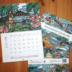 ハワイ 壁掛け カレンダー 2021 ハワイアン アート 絵画 雑貨 ポスター インテリア 文房具 日用 2021年 (TAMO タモ)