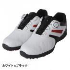 ティゴラ ゴルフシューズ TR0S1038 メンズ ゴルフ ダイヤル式スパイクレスシューズ 4E ホワイト×ブラック TIGORA