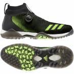 アディダス ゴルフシューズ コードカオス ボア EPC16 メンズ ゴルフ ダイヤル式スパイクレスシューズ 2E ブラック×グリーン adidas