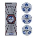 キャロウェイ CHROME SOFT TRUVIS シェブ ホワイト/ブルー 1スリーブ 3個入 4885997569 ゴルフボール 公認球 Callaway クロムソフト トゥルービス