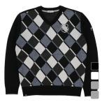 フィラ ゴルフウェア 長袖セーター 789700 変形アーガイル Vネックニットセーター メンズ FILA