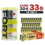ダンロップ FORT フォート 2球缶 ×30+3缶増量キャンペーン DFDYL2CS66 硬式テニス プレッシャーボール ダンロップ DUNLOP