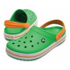 クロックス Crocband 11016 3R4 クロッグサンダル:イエローグリーン×オレンジ