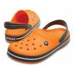クロックス Crocband 11016 82N クロッグサンダル:オレンジ×グレー