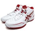 アシックス(asics) ユニセックス バスケットボールシューズ ゲルバースト RS3:ホワイト×レッド(TBF319 0122)