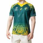アシックス メンズ ラグビー 半袖シャツ オーストラリア代表 ワラビーズ(Wallabies) アウェイゲームジャージレプリカ (2111A151) asics