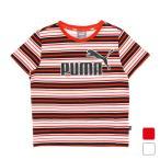 プーマ ジュニア キッズ・子供 半袖Tシャツ ESS ストライプ ロゴ Tシャツ 583014 スポーツウェア PUMA