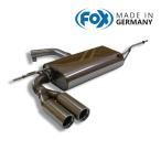 FOX フォックス オールステンレスマフラー(リアマフラー) AUDI A3 (8P) スポーツバック (5ドア) FF 1.6 アトラクション/2.0FSI/1.4TFSI用 76mmダブル