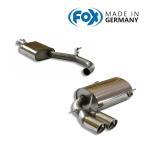 FOX フォックス オールステンレスマフラー(センター+リアマフラー)A3 (8P) スポーツバック 2.0TFSI/3.2クワトロ用 90mm 斜め ダブル