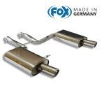 FOX フォックス オールステンレスマフラー(リアマフラー) AUDI A4 (8E B7) セダン/アバント クワトロ2.0T用 90mm 斜め 左右