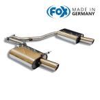 FOX フォックス オールステンレスマフラー(リアマフラー) AUDI A4 (8E B7) セダン/アバント FF 1.8T用 90mm 斜め 左右