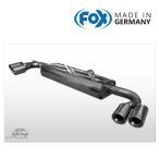 FOX フォックス オールステンレスマフラー(リアマフラー) AUDI TT (8J) クーペ クワトロ 3.2用 80mm 斜め ダブル 左右