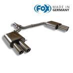 FOX フォックス オールステンレスマフラー(リアマフラー)AUDI A4 (8K) セダン/アバント FF 1.8TFSI用