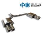 FOX フォックス オールステンレスマフラー(リアマフラー)AUDI A4 (8K) セダン/アバント FF/クワトロ 2.0TFSI用 80mm 斜め ダブル 左右
