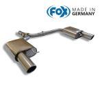 FOX フォックス オールステンレスマフラー(リアマフラー)AUDI A4 (8K) セダン/アバント FF/クワトロ 2.0TFSI用 100mm 斜め 左右