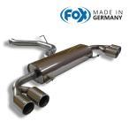 FOX フォックス オールステンレスマフラー(リアマフラー) AUDI S1(8X) 3ドア/スポーツバック(5ドア)  2.0用 90mmダブル 左右
