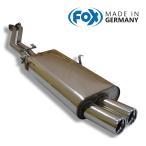 FOX フォックス オールステンレスマフラー(リアマフラー) BMW E30 320i/325i用