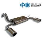 FOX フォックス オールステンレスマフラー(リアマフラー) FIAT アバルト500用
