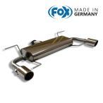 FOX フォックス オールステンレスマフラー(リアマフラー) MAZDA Atenza (GJ) Sedan/ アテンザ (GJ) セダン 2.2XD用 100mm 斜め 左右