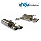 FOX フォックス オールステンレスマフラー(リアマフラー) MERCEDES BENZ W204 セダン/S204 ワゴン (V6) C250-C350用 115x85mm オーバル 斜め ダブル 左右