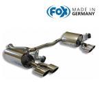 FOX フォックス オールステンレスマフラー(リアマフラー) MERCEDES BENZ W205 セダン/S205 ワゴン C180用