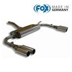 FOX フォックス オールステンレスマフラー(リアマフラー) MERCEDES BENZ C117 クーペ/X117 シューティングブレーク CLA180/CLA250用 80mm ダブル 左右