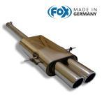 FOX フォックス オールステンレスマフラー(リアマフラー) MINI ミニ (R56) クーパーS用 90mm 斜め ダブル