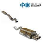FOX フォックス オールステンレスマフラー(フロント+リアマフラー) RENAULT Clio2 / ルーテシア2 ルノースポール2.0用 80mm ダブル