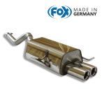 FOX フォックス オールステンレスマフラー(リアマフラー) RENAULT Clio2 / ルーテシア2 1.2-1.6用