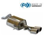 FOX フォックス オールステンレスマフラー(リアマフラー) RENAULT Clio4 / ルーテシア4 1.2 GT用