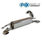 FOX フォックス オールステンレスマフラー(リアマフラー)スマート フォーツークーペ/フォーフォー (453) 0.9/1.0用 86x54mm オーバル 斜め左右