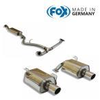 FOX フォックス オールステンレスマフラー(フロント+リアマフラー) SUBARU Forester (SJ) / フォレスター (SJ) 2.0(NA)用 100mm 斜め 左右