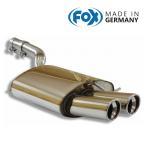 FOX フォックス オールステンレスマフラー(リアマフラー) VOLKSWAGEN Passat (3C) / パサート(3C) 1.8TSI/2.0T/2.0TSI用 90mm 斜め ダブル