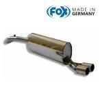 FOX フォックス オールステンレスマフラー(リアマフラー) VOLKSWAGEN Polo (6R) / ポロ (6R) 1.4GTI用 76mm ダブル